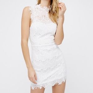 Free People Daydream Lace Bodycon Slip Dress